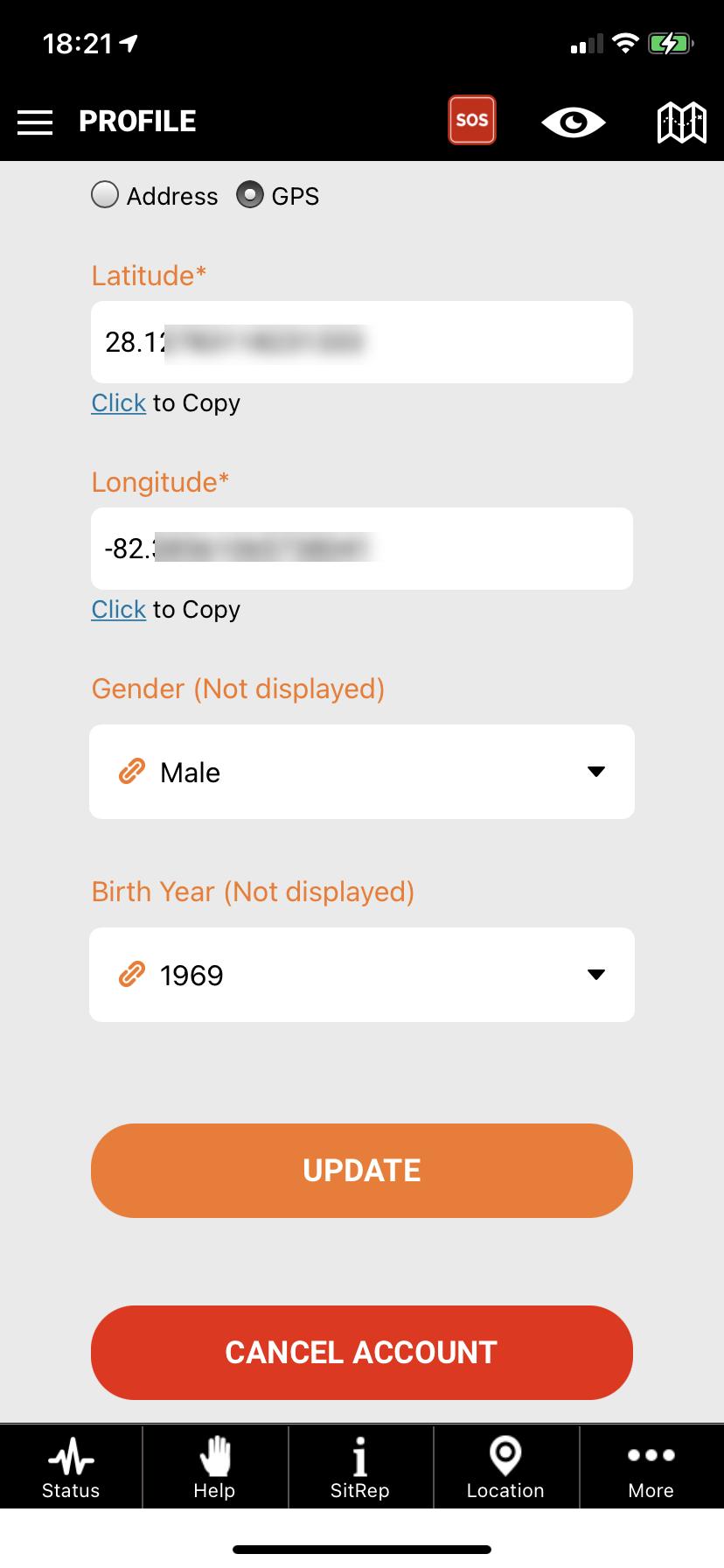 pubsafe citizen user profile