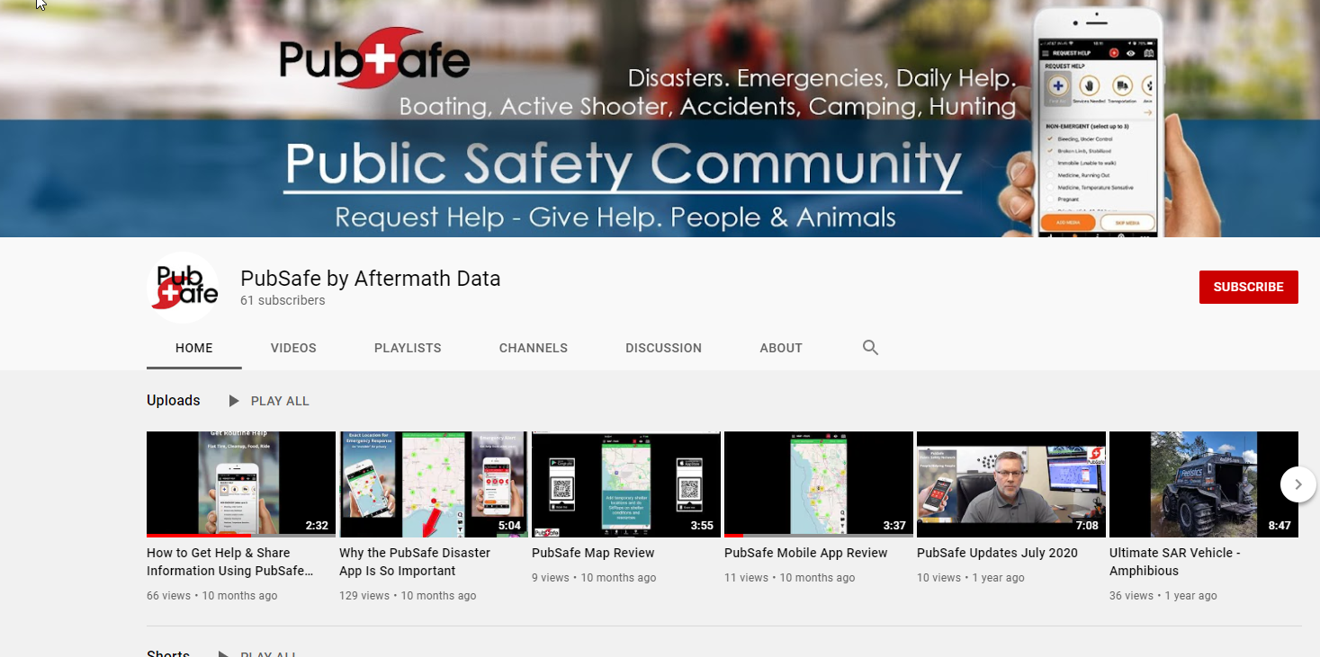 PubSafe Safety Community YouTube Channel